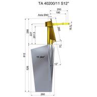 Steel Rudders TA40200-11 S12