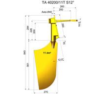 Rudders nibral TNI40200-11T S12°