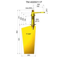 Rudders in nibral TNI40200-11 P