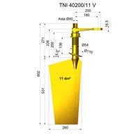 Rudders in nibral TNI40200-11 V