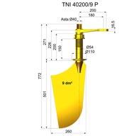 Rudders in nibral TNI40200-9 P