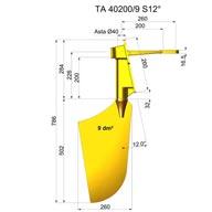 Rudders in nibral TNI40200-9 S12°